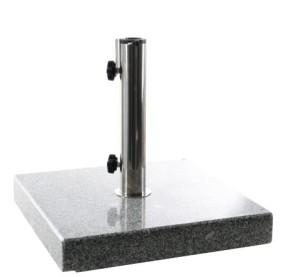 PARASOLLFOT 85-288 25 kg granitt med hjul og håndtak